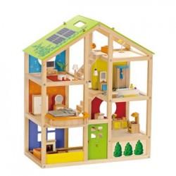 Hape Maison de poupée Quatre saisons meublée