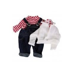 Götz Puppenkleid Set Latzhose 42-46 cm