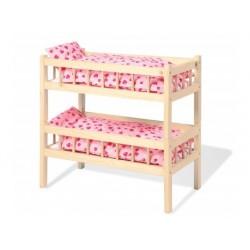 PINOLINO lit à étages pour poupées Carmen