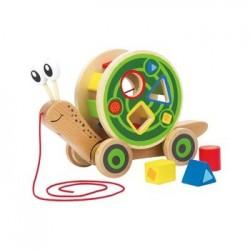 H Escargot roulant avec jeu de formes