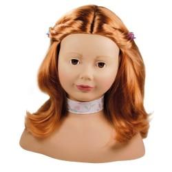 Götz tête à coiffer cheveux roux