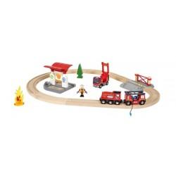 BRIO Bahn Feuerwehrset