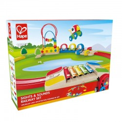 Hape Sights & Sounds Railwayset E3815